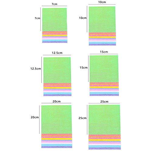 Faltpapier Glitzernd 10 Farben 5 Size f/ür Origami und Bastelprojekte 10 x 10cm ca. 50 Blatt Shager Origami Papier