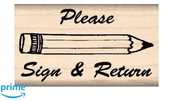 Stamps by Impression ST 0332 Please Sign and Return Rubber Stamp