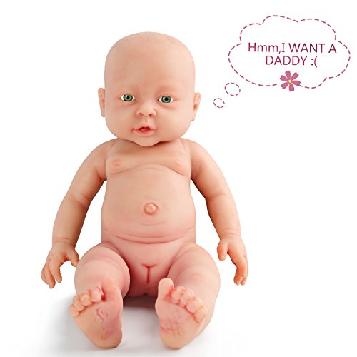 Vollence 15 Inch Realistic Reborn Baby Doll,PVC Free,Solid P