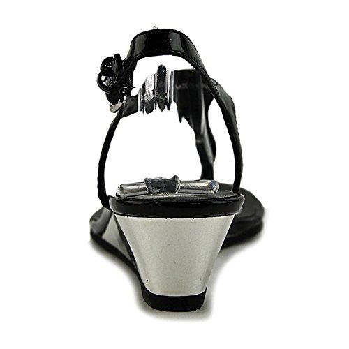 Compensés Sandales Black Patent Synthétique Spring Callisto q8wxU6Zt