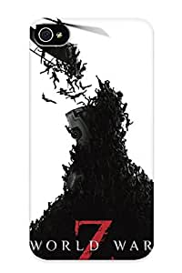 Marvelouscases Anti-scratch And Shatterproof World War Z Dark Helicopter Horror Brad Pi Phone Case For Iphone 4/4s/ High Quality Tpu Case