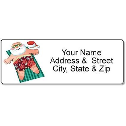 amazon com beach santa address label christmas customized return