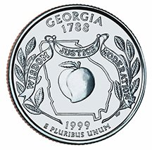 1999 P Georgia State Quarter Choice Uncirculated