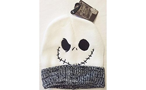 (Nightmare Before Christmas Jack Skellington Face Knit Beanie Hat With Cuff - One)