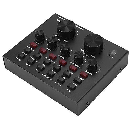 [해외구매대행 $28 79] Live Sound Card - Voice Changer Device - V8 Sound Card  Audio Interface Bluetooth Mixer Board Dj Sound Mixer, Aluminum