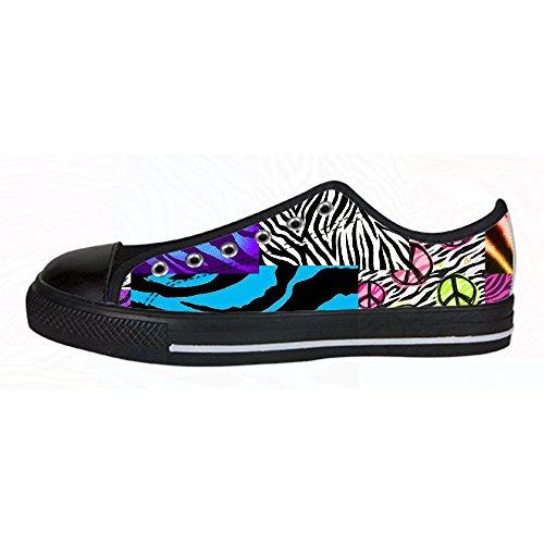 Custom zebra di stampa Womens Canvas shoes I lacci delle scarpe scarpe scarpe da ginnastica Alto tetto Comprar Descuento Grande Barato Entrega Rápida Venta En Línea DlVmwGK