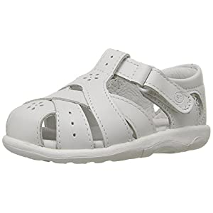 Stride Rite SRTech Tulip Fisherman Sandal (Toddler),White,7 W US Toddler