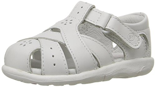 Stride Rite SRTech Tulip Fisherman Sandal (Toddler),White,4 M US Toddler (Stride Shoes Ride Baby)