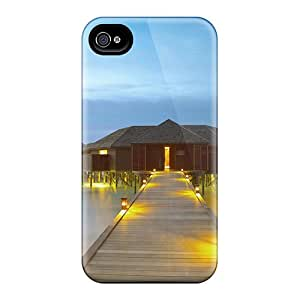 4/4s Scratch-proof Protection Case Cover For Iphone/ Hot House On The Water Phone Case