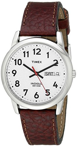Timex Men's T20041 Easy Reader Brown Leather Strap Watch