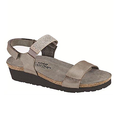 Naot Footwear Women's Lisa, Silver Threads Leather, 39 M EU/8 B(M) US