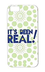 TPU Navy Its Been REAL Satire Infamous Funny Funny TV Occasion Reality Celebrity Television Stars Famous For Iphone 5c Protective Hard Case