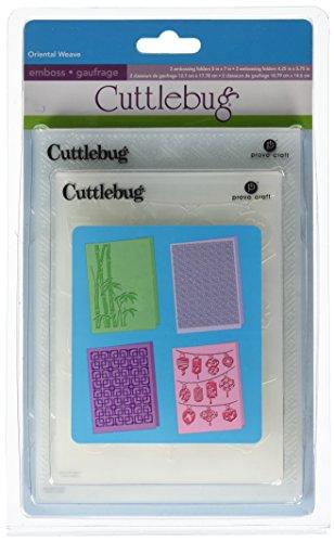 Provo Craft Cuttlebug Embossing Folders, Oriental Weave (Cuttlebug Cut Machine Embossing Die)