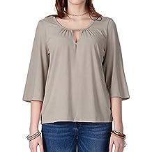 Regna X Boho Women's Babydoll Loose Blouse Top Knit Shirts