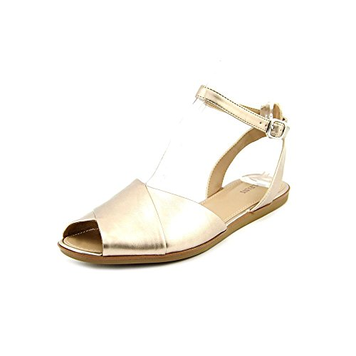Alfani Maloree Womens Size 9.5 Gold Open Toe Slingback Sandals Shoes UQDL4