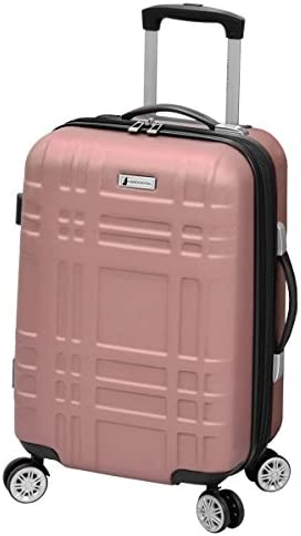 LONDON FOG Hardside Spinner Luggage, Rose Gold, Carry-On 20-Inch