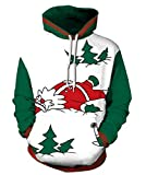 Best  - Azuki Women Sweatshirts Funny Graphic Pullover Santa Claus Review