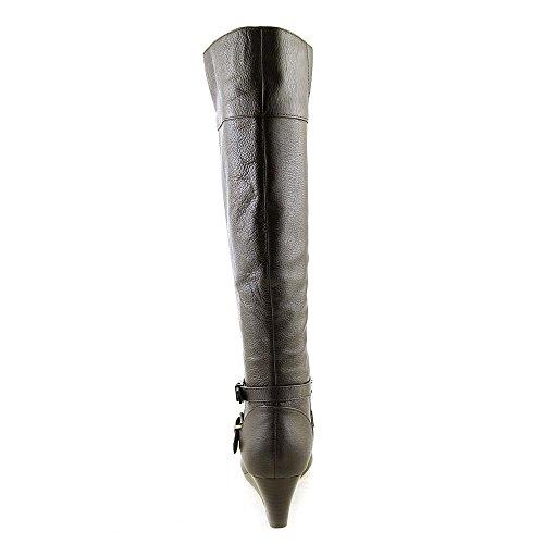 Knee Toe Bernini Brown Boots Almond Womens Giani Fashion Kalie Leather High CYc4Xwq