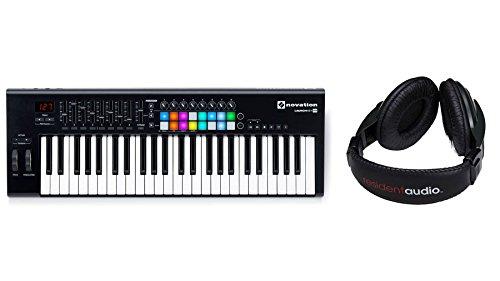 Novation Launchkey 49 MK2 USB Keyboard Controller Bundle with Resident Audio R100 Headphones (2 Items)