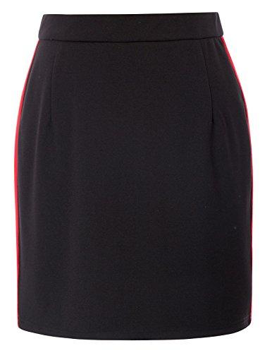 Kate Kasin Womens Vintage Pencil Skirt Bodycon Business Skirt,Black Size S by Kate Kasin