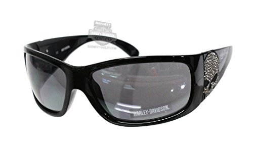 Harley-Davidson Black Frame Grey Flash Lens Sunglasses