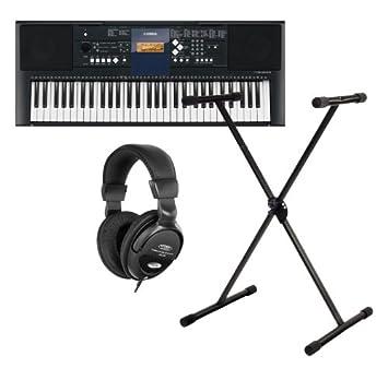 Kopfhörer /& Schule Tolles 61-Tasten Einsteiger Keyboard von Yamaha mit Ständer