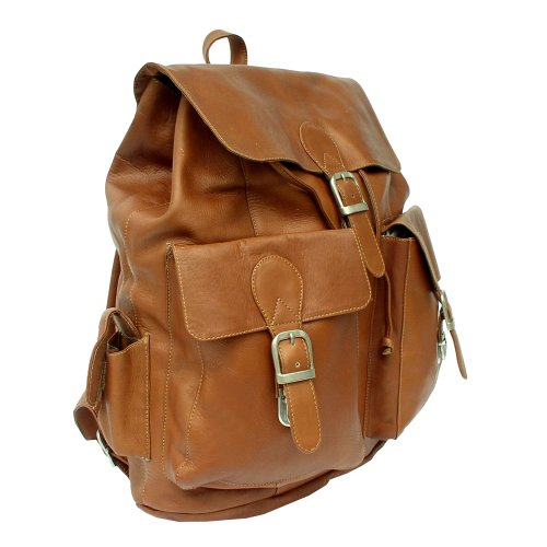 Saddle Piel One Buckle Saddle Large Leather Flap Size Backpack 878Pq