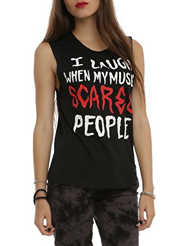 My Music Scares People Girls Muscle Top Size : Small