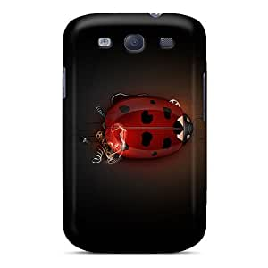 PeggyPhillips Design High Quality 3d Ladybug Covers Cases With Excellent Style For Galaxy S3