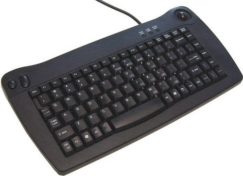 Solidtek Keyboard Mouse (Mini Keyboard with Trackball)