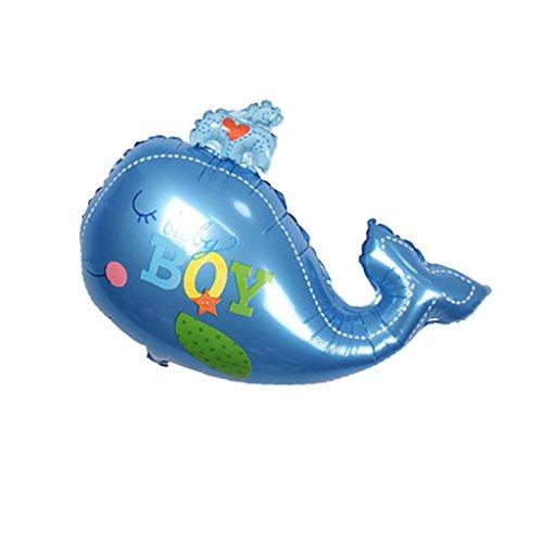 MonkeyJack Ocean Theme Whale Foil Balloon Boy Girl Baby Shower Kids Party Decoration - Blue Boy, (Whale Baby Shower Theme)