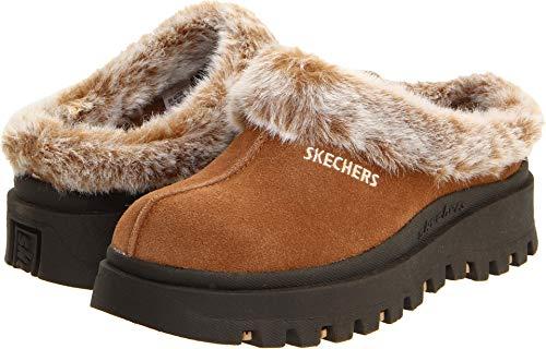 Skechers Women's Fortress Clog Slipper,Chestnut,9 M US