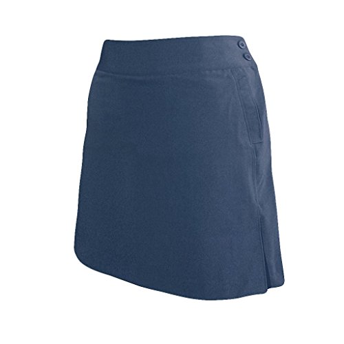 Monterey Club Ladies Stretchable Peach Twill Solid Skort #2877 (Navy, - Athletic Club