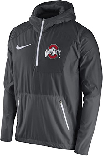 Ohio State Buckeyes Nike 2016 Sideline Vapor Fly Rush Half-Zip Pullover Jacket (Anthracite, 3X) (Nike Vapor Jacket compare prices)