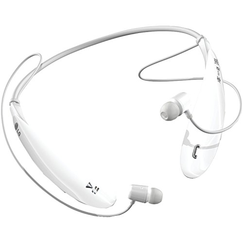 LG Electronics Tone Ultra (HBS-800) Bluetooth Stereo Headset - Retail Packaging - White (Renewed) (Lg Tone Earbuds Hbs800)