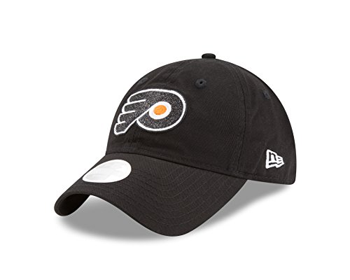 New Era NHL Philadelphia Flyers Women's Team Glisten 9TWENTY Cap, One Size, Black