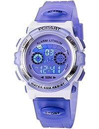Kid Watch for Child Boy Girl LED Multi Function Sport Outdoor Digital Dress Waterproof Alarm Purple