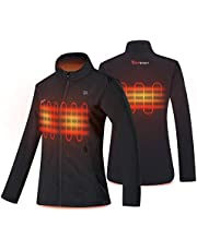 PROSmart Women Heated Jacket Ladies Slim Fit Waterproof Heating Vest Jackets with Battery Pack