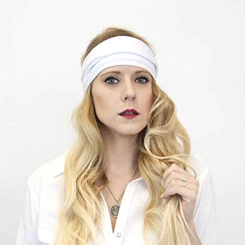Wide Solid Stretch Fabric Headband - Foreheads Wide