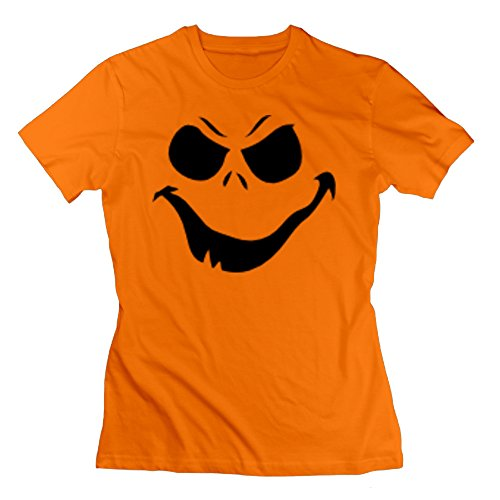 Luke Kuechly Halloween Costume (Happy0808 Women's Cool Halloween Costume T-shirt T-shirt - XL Orange)