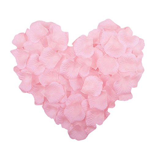 (Neo LOONS 1000 Pcs Artificial Silk Rose Petals Decoration Wedding Party Color Light Pink)