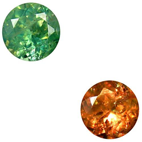 0.56 ct Round Shape (5 x 5 mm) Un-Heated Color Change Alexandrite Natural Gemstone