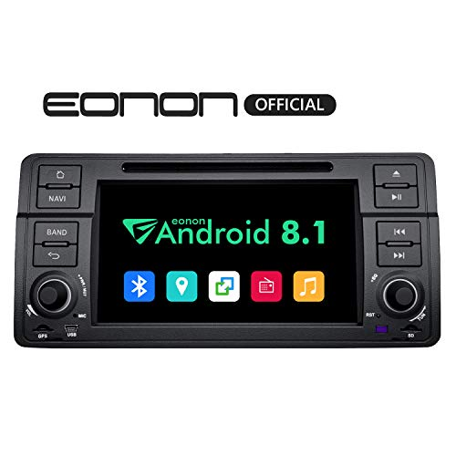 Eonon Car Radios Android 8.1 Car Stereo, Touch Screen Head Unit, 2GB RAM 32GB ROM Octa-Core 7 Inch Car Stereo Applicable to 3 Series 1999,2000,2001,2002,2003 and 2004(E46) Support Fastboot-GA9250B