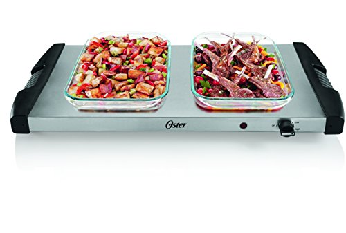 Oster Buffet Server, Triple Tray, 2-1/2 Quart, Stainless Steel (CKSTBSTW00-NP1)