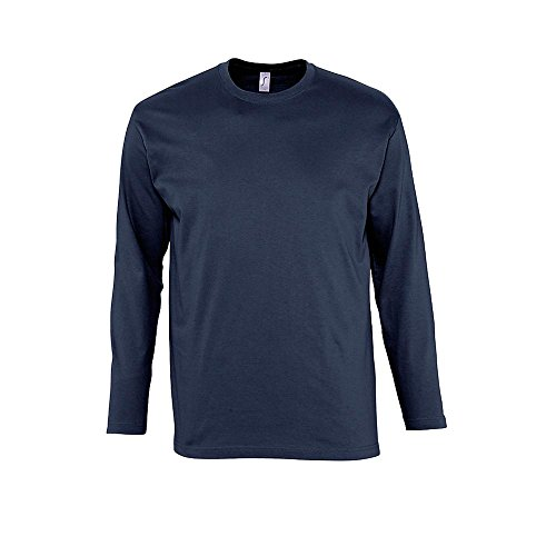 Sol 's–Manga Larga Camiseta Monarch gris
