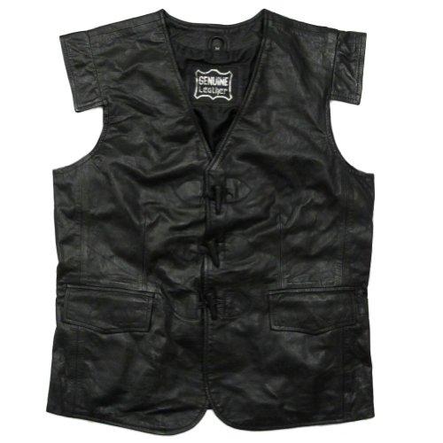 Jacobite Waistcoat - Tartanista New Black Leather Swordsman Jacobite Kilt Waistcoat L
