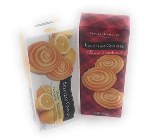 European Cookies Lemon Flavored and Classic Shortbread