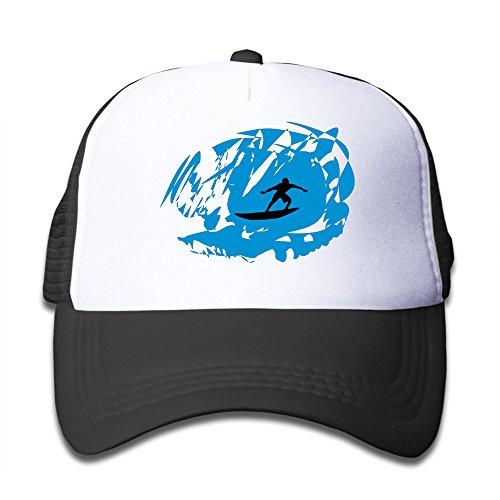QZJKW-Nerd-Surfer-Surfing-Children-Kids-Nylon-Adjustable-Baseball-Cap-One-Size-Fits-Most