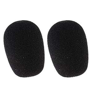 Perfk 2pcs Microphone Headset Sponge Cover Foam Protector Windshield Windscreen