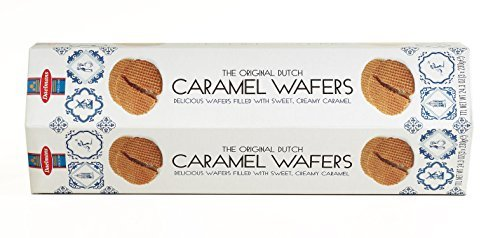 Daelmans Dutch Caramel Wafers Stroopwafles TOWER 24 Wafers 24.3 Oz. Gift Box
